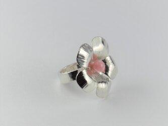Flower Ring with Rhodochrositeの画像