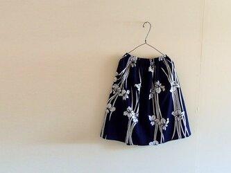 【SALE】浴衣地ギャザースカート 菖蒲(あやめ)の画像