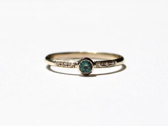 Alexandrite 3mm + Diamonds  Ring / K10YGの画像