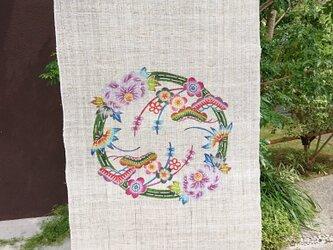 牡丹に松竹梅丸紋の画像