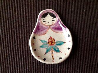 プチギフトに♬ マトリョーシカトレイ小さいサイズ・京紫の画像