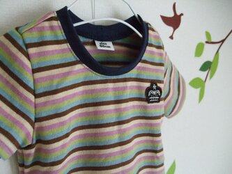 *ゆったり80cm*シンプルTシャツ(ボーダー)の画像