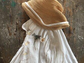 手染no一輪マーガレット.....suMire-bouquet 布花コサージュの画像