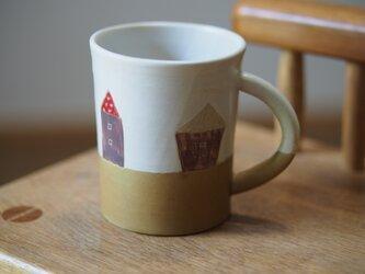 house模様のコーヒーカップの画像