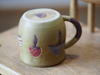 きのこ模様のコーヒーカップ の画像