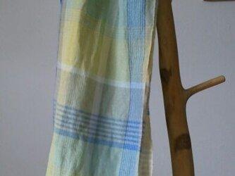 手織りストールⅡ/麻(ラミー)/平織の画像