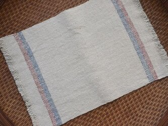 手紡ぎ手織りオーガニック・ヘンプコットン布巾3-2の画像