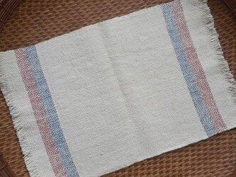手紡ぎ手織りオーガニック・ヘンプコットン布巾4の画像