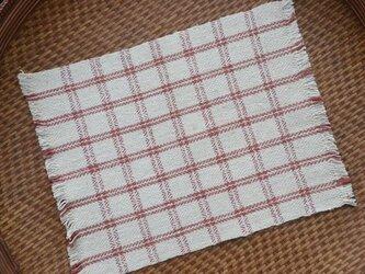手紡ぎ手織りオーガニック・ヘンプコットン布巾5-1の画像