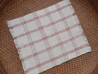 手紡ぎ手織りオーガニック・ヘンプコットン布巾7-1の画像