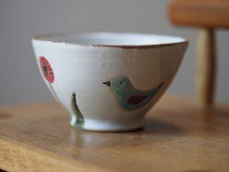 鳥と花のお茶碗 の画像