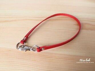 ストラップ イタリアヌメ革のレザーストラップ(レッド) ストラップ単品の画像