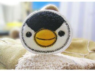 ★ペンギン★もこもこワッペン★アイロン★白黒1枚-6の画像