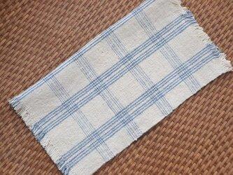 手紡ぎ手織りオーガニック・ヘンプコットン布巾9-1の画像