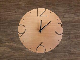 Wood Wall Clock Type Bの画像