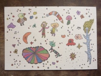 ポストカード 宇宙散歩 3枚セットの画像