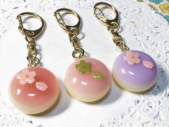 選べる2種類!桜水まんじゅうのキーホルダーの画像