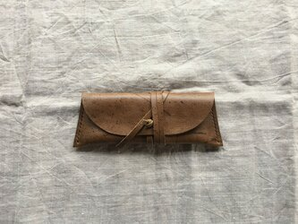 『kudu』 pen case burnt soilの画像