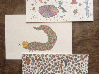 ポストカード いろいろmix(宇宙散歩・龍・森の子)の画像