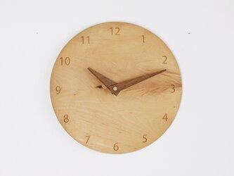 木製 掛け時計 丸 カエデ材1の画像