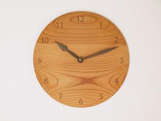 木製 掛け時計 丸 杉材5の画像