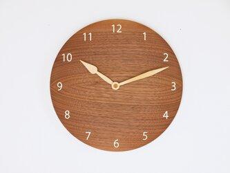 木製 掛け時計 丸 ブラックウォールナット材13の画像