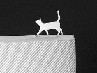 Cat-13-h BookMark シルバーブックマーク しおり 猫 ネコ<受注制作>の画像