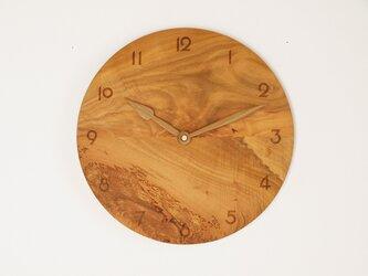 木製 掛け時計 丸 桜材7の画像