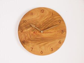 木製 掛け時計 丸 桜材8の画像