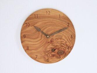 木製 掛け時計 丸型 桜材18の画像