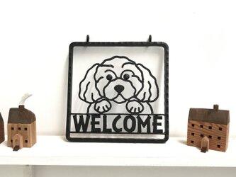 【限定品】犬型アイアンウェルカムボード  玄関・入口・お店・愛犬の画像
