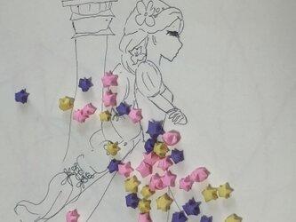 折り紙lucky starラプンツェルの画像