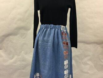 花柄のロングスカートの画像