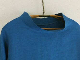 linen プルオーバー 藍色の画像