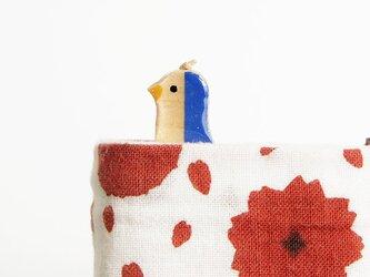 木製ペンギンしおり 青(ブックマーカー)の画像