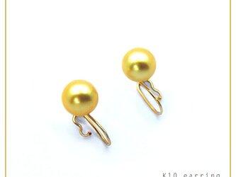 あこや真珠 いろなチャームの組み合わせを楽しめる イヤリング パール ゴールド 8.5mm K10 レディースの画像