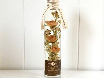 Antique rose bouquet # orange peko *ハーバリウム*の画像