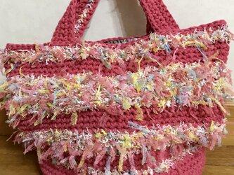ピンクの夏バッグの画像
