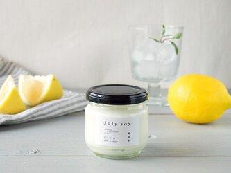 アロマキャンドル  7月限定/夏を味わう7月のレモン氷菓ブレンド  M(ソイキャンドル)の画像