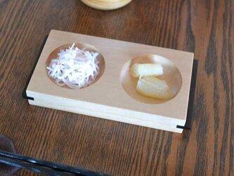 二連皿 カバの画像