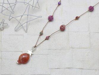 星☆サンストーン ころころネックレスの画像