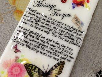 iPhone5*メッセージとちょうちょの画像