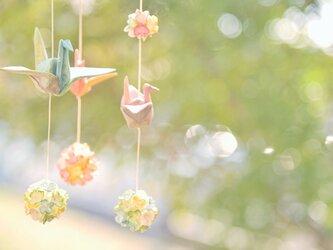 ♪再出品♪折り鶴 のつるし飾り(三連)の画像