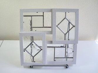 クリアステンドグラスのパネルセットの画像