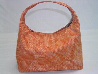絹のあづま袋バッグ 持ち手付きで 使い勝手良くの画像