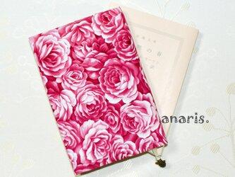 USAファブリック☆「薔薇の玉手箱」☆ブックカバーの画像