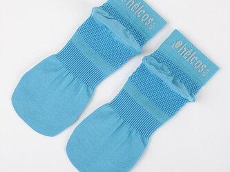 癒本舗の ヒルコス 男女兼用 靴下 抗菌防臭 ショートソックス ナイルグリーン 22~24cmの画像