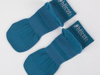 癒本舗の ヒルコス 男女兼用 靴下 抗菌防臭 ショートソックス ブルーラグーン 27~29cmの画像