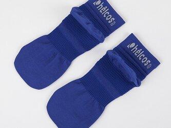 癒本舗の ヒルコス 男女兼用 靴下 抗菌防臭 ショートソックス ブルー 26~28cmの画像