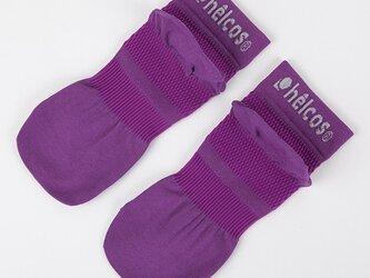 癒本舗の ヒルコス 男女兼用 靴下 抗菌防臭 ショートソックス アメジスト 22~24cmの画像
